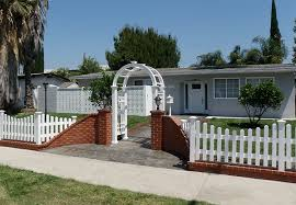 vinyl picket fence front yard. Picketonbrick2.png Vinyl Picket Fence Front Yard