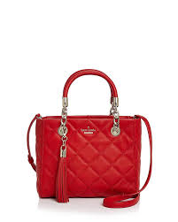 Kate Spade Hibiscus Red Quilted Leather New York Emerson Place ... & Kate Spade Hibiscus Red Quilted Leather New York Emerson Place Lyanna  Shoulder Bag - Tradesy Adamdwight.com