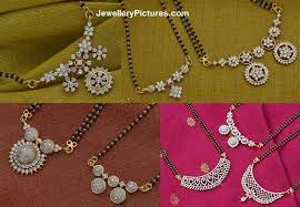 black beads or mangalsutra designs