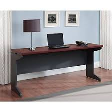 Large desks for home office Two Person Image Is Loading Longcomputerdeskcredenzahomeofficetablelarge Ebay Long Computer Desk Credenza Home Office Table Large Work Surface