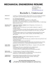 Mechanical Engineering Resume Objective Statement Examples Career