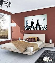 Brown Contemporary Bedroom Paint Color Ideas