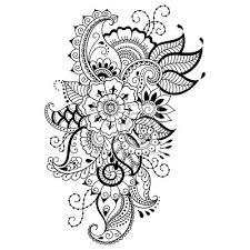 Fototapeta Henna Tetování Květina šablona Mehndi Styl Sada Ornament V