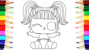 Lol Surprise Lil Sister Coloring Pages How To Draw Lil Doll For Kids