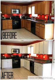 Painting Cherry Kitchen Cabinets White How To Paint Throughout Decor