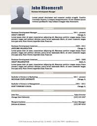 Business Resume Template Custom Modern Resume Templates [60 Examples Free Download]