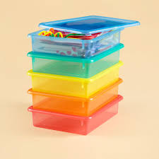 ... Kids Storage Containers Kids Colorful See Through Stackable Box The  Land Of Nod Plastic Containers Full