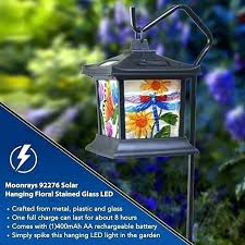 moonrays solar lights not working powered hanging fl stained glass led light reviews moonrays solar rechargeable