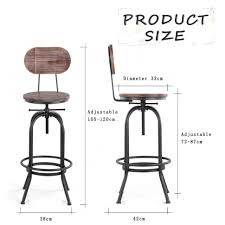 bar stools office chairs with stool height guide ergonomic hickory counter standard desk heights wood ikayaa