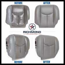 2005 chevy tahoe lt z71 driver side bottom replacement leather seat cover gray