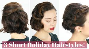 Short Hair Style Photos 3 short hair holiday hairstyles youtube 1766 by stevesalt.us