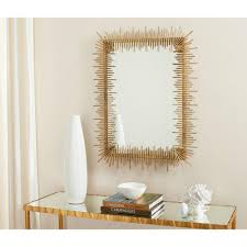 iron and glass framed mirror