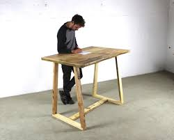 timber office desk. reclaimed timber standing office desk with a frame