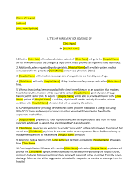 Hospital Agreement Template