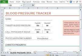Excel Blood Pressure Chart Blood Pressure And Heart Rate Tracker Template For Excel