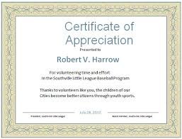 free templates for certificates of appreciation certificate appreciation template word volunteer appreciation