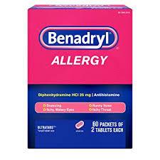 Amazon.com: Benadryl Ultratabs Go Packs, Antihistamine Tablets with ...