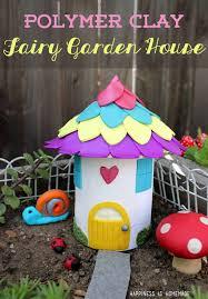 diy polymer clay fiary garden house