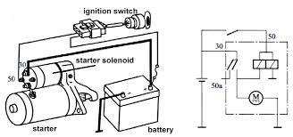 single starter relay car starter wiring diagram