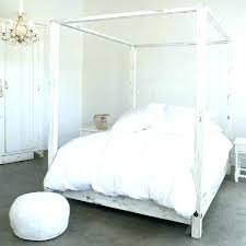White Canopy Bed Full Canopy Beds Covers Bed Covering Traditional ...
