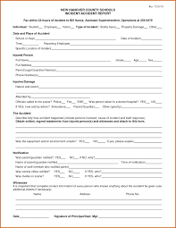 Sample Accident Incident Report Form To Reporting Procedure