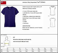 District Very Important Tee Size Chart Product Specs Sizing And Care