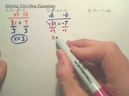solving 2 step equations algebra 1