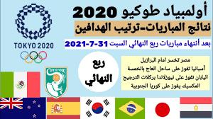 نتائج مباريات أولمبياد طوكيو 2020 دور ربع النهائي لكرة القدم للرجال -  YouTube