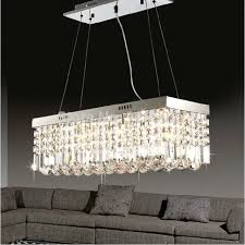 modern crystal ceiling light fixture rectangle curtain crystal lamp for dining room l650 w250
