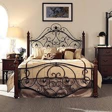 rod iron bed. Delighful Iron Queen Size Antique Style Wood Metal Wrought Iron Look Rustic Victorian  Vintage Bed Frame Cherry Bronze Finish Scroll Design Great For Menu0027s Or Womenu0027s  With Rod T