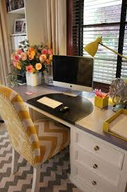 home office simple neat. Yellow Chevron Chair For The Home Office Simple Neat