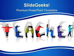 Teachers Powerpoint Templates Teacher Children Powerpoint Template 0810 Powerpoint Themes