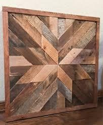 barn wood quilt wood wall art geometric