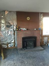 complete masonry fireplace facelift