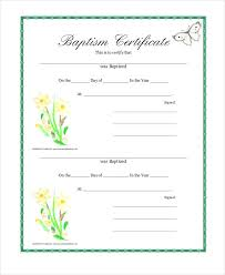 Sample Baptism Certificate Template Cool 48 Sample Baptism Certificate Templates Free Sample Example