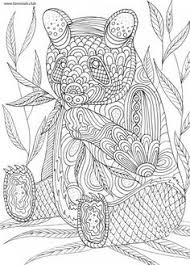 Small Picture Hand drawn Coloring pages with panda illustration for adult anti