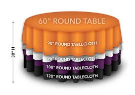 5 ft round table overlay sizing guide