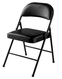 vinyl folding chairs. Commercialine Vinyl Padded Folding Chair By National Public Seating-Black Chairs E