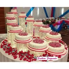 wedding cake stand cascade waterfall crystal set of 11