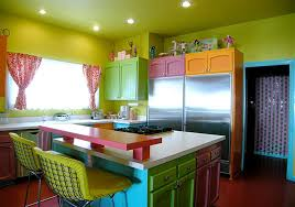 colorful kitchen design. Colorful Kitchen Design Ideas Cabinets Colors With Dark Green Wall And Ceiling Paint