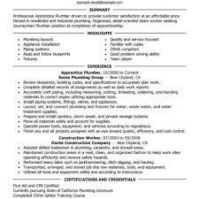 Plumber Resume Journeyman Plumber Resume Objective Commercial Toreto Co Sample Cv 15