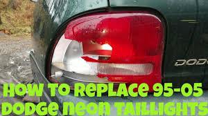 Dodge Neon Brake Light 95 05 Dodge Neon Taillight Replacement