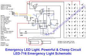 emergency led light powerful cheep circuit led 716 emergency light schematic diagram