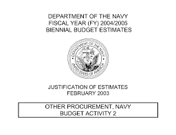 Department Of The Navy Fiscal Year Fy 2004 2005 Biennial