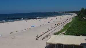 Ustka - widok na wschodnią część plaży