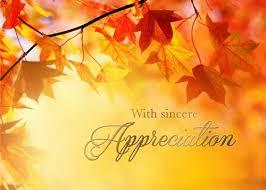Fall Leaves Appreciation Thanksgiving Greeting Card
