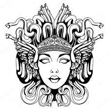 медуза горгона портрет векторное изображение Blackspring1 120075408
