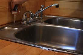 remove caulking kitchen sink ideas