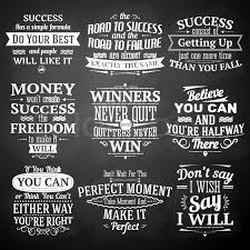 Success Motivational And Inspirational Quotes Chalkboard Emblems Set Inspiration Chalkboard Quotes