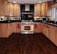 Vinyl Plank Flooring Kitchen Dark Brown Wooden Allure Vinyl Plank Flooring Matched With White
